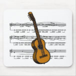 Acoustic Guitar musical 07 B Mouse Pad