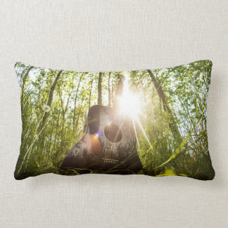 Acoustic Guitar Nature Sunlight Photography Lumbar Pillow