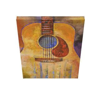 Acoustic Guitar Painting Canvas Print