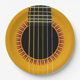 Acoustic Guitar Paper Plate