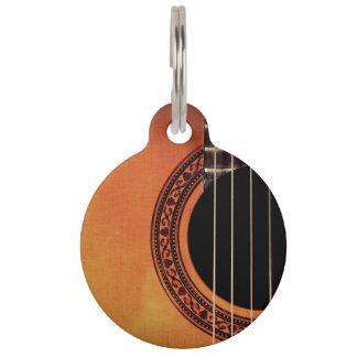 Acoustic Guitar Pet Nametag