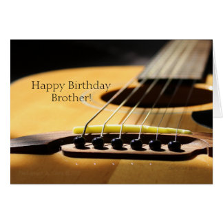 Acoustic Guitar Photograph, Happy Birthday Brother Card