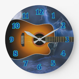 Acoustic Guitar Player Clock