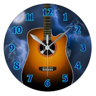 Acoustic Guitar Player Clocks