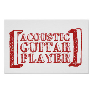 Acoustic Guitar Player Print