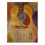 Acoustic Guitar Postcard