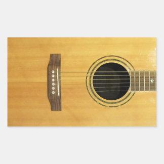 Acoustic Guitar Rectangular Sticker
