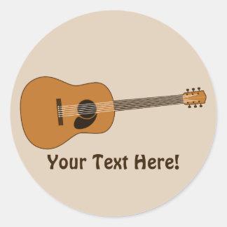 Acoustic Guitar Round Sticker