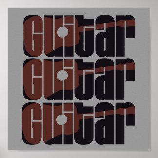 Acoustic Guitar Rust Poster