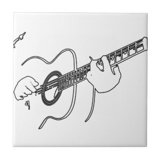 acoustic guitar small square tile