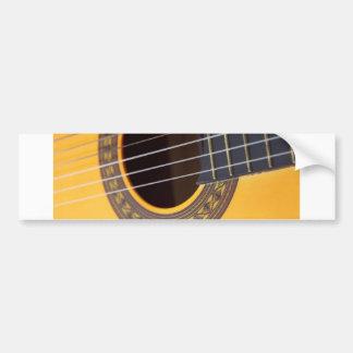 Acoustic Guitar Sound Hole Bumper Sticker