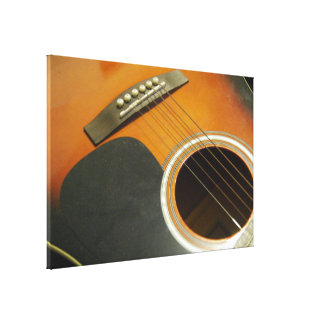 Acoustic Guitar Stretched Canvas Print