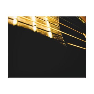 Acoustic Guitar Strings Gallery Wrapped Canvas