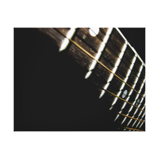 Acoustic Guitar Strings/Frets Stretched Canvas Print