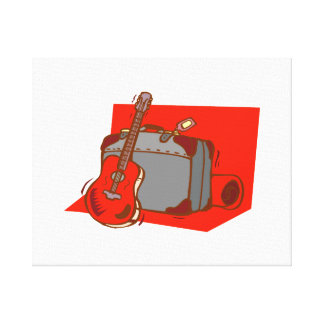 acoustic guitar suitcase red.png canvas print