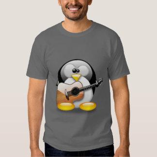 Acoustic Guitar Tux (Linux Tux) T-shirt
