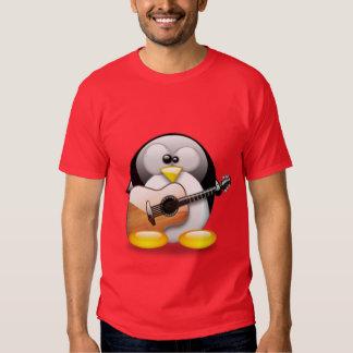 Acoustic Guitar Tux (Linux Tux) Tee Shirts