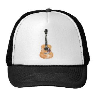Acoustic Guitar vertical distressed Cap