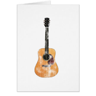 Acoustic Guitar vertical distressed Card