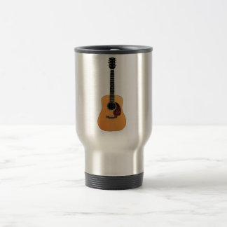 Acoustic Guitar vertical Stainless Steel Travel Mug