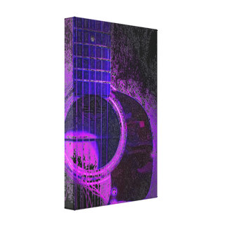 acoustic guitar wall art stretched canvas prints