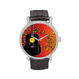 Acoustic guitar - wrist watch