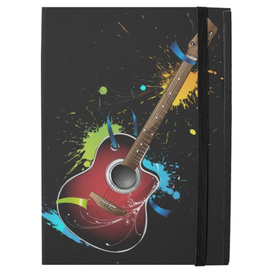 Acoustic guitar with paint splatters iPad pro 12.9""