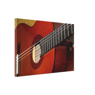 Acoustic Guitar Wrapped Canvas Canvas Print