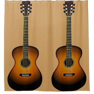 Acoustic Guitars Design Shower Curtain