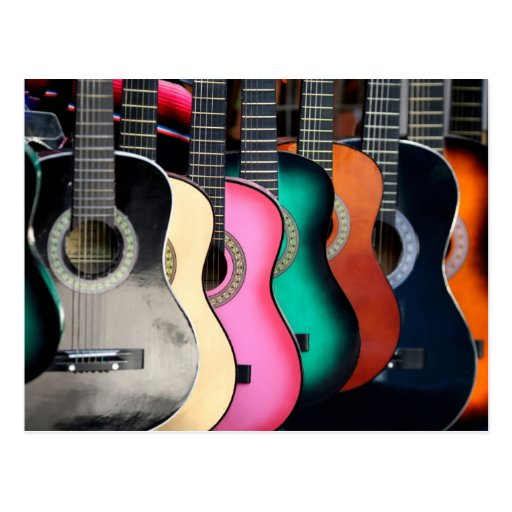 Acoustic Guitars Postcards