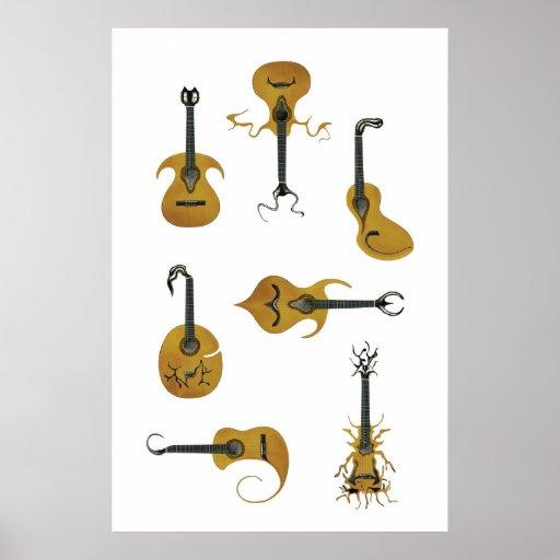 Acoustic Guitars Print