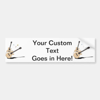 acoustic guitars two shado notes.png bumper sticker