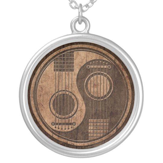 Acoustic Guitars Yin Yang with Wood Grain Effect