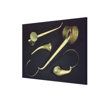 Acoustic instruments cornets canvas print