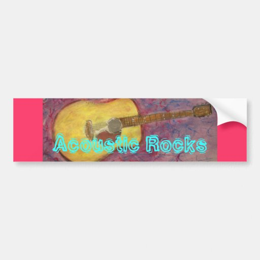 Acoustic Rocks Bumper Stickers