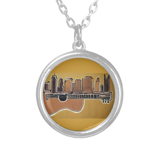 Acoustic Skyline Silver Plated Necklace