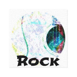 Acoustic Whitewash Rock Canvas Print