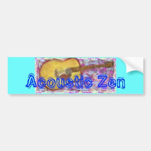 Acoustic Zen Guitar Bumper Sticker