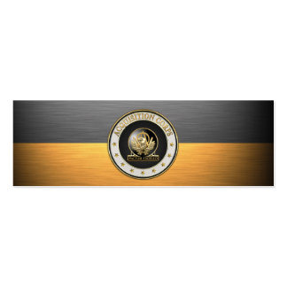 Acquisition Corps (AAC) Regimental Insignia [3D] Pack Of Skinny Business Cards