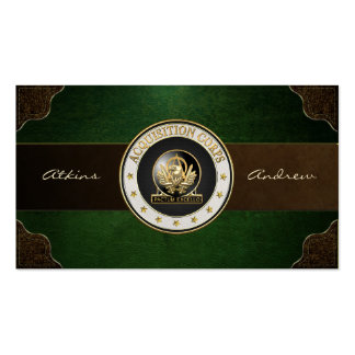 Acquisition Corps (AAC) Regimental Insignia [3D] Pack Of Standard Business Cards