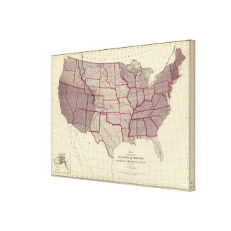 Acquisition of US Territories Canvas Print