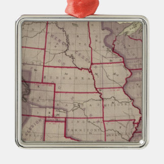 Acquisition of US Territories Silver-Colored Square Decoration