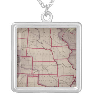 Acquisition of US Territories Silver Plated Necklace