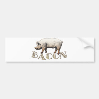 Acrobat BACON Pig Bumper Sticker