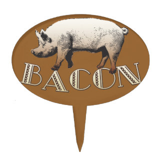 Acrobat BACON Pig Cake Topper