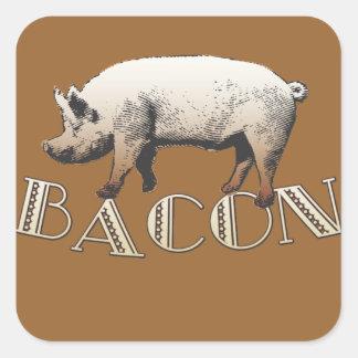 Acrobat BACON Pig Square Sticker