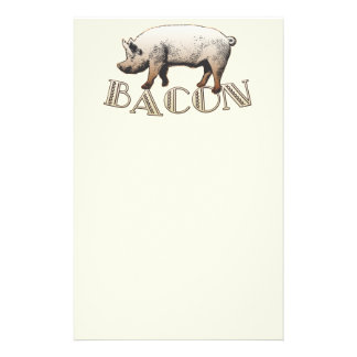 Acrobat BACON Pig Stationery