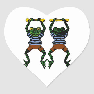 Acrobat Frog Heart Sticker