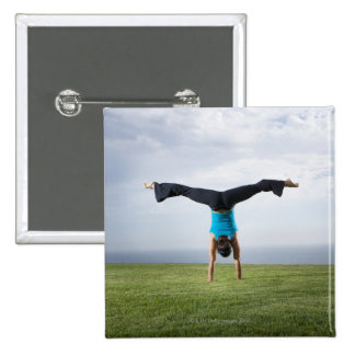 Acrobats and Contortionists 2 15 Cm Square Badge