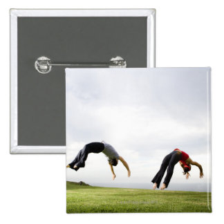 Acrobats and Contortionists 3 15 Cm Square Badge